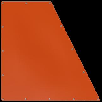 Bâche en forme de trapèze rectangulaire