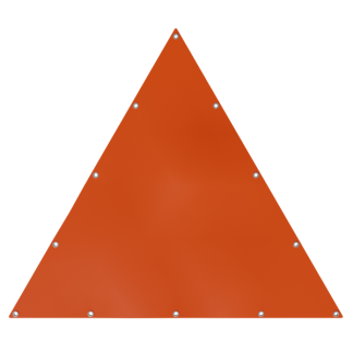 Bâche en forme de triangle équilatéral