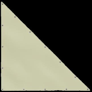 Bâche en forme de triangle rectangle